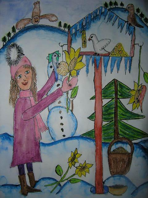 Výsledek obrázku pro malované obrázky od dětí vánoční