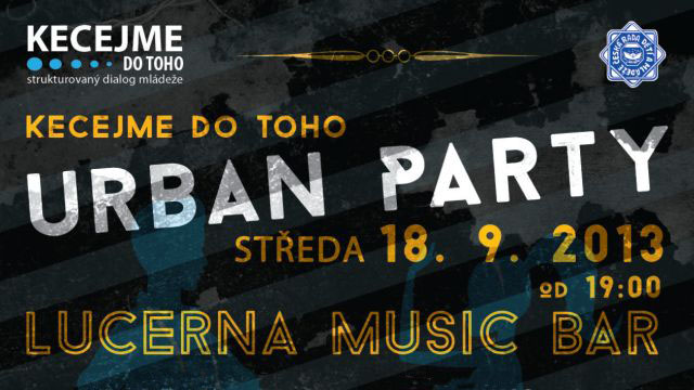 Kecejme do toho Urban party (detail plakátu)