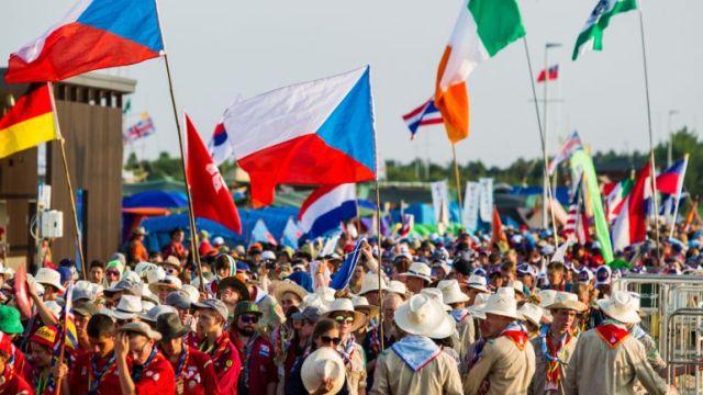 Skautské jamboree je vždy velká vřava (foto Karel Pešek)