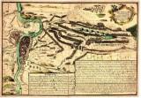 Bitva u Štěrbohol 1757 na dobové mapě (Sedmiletá válka 1756-1762)
