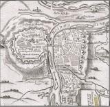 Opevněné město Praha 1757 - tehdy mělo asi 40 tisíc obyvatel, a zahrnovalo vlastně jen Malou Stranu, Staré Město, Nové Město a Vyšehrad (dobová mapa Bitvy u Štěrbohol)