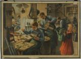 Klempířská dílna - školní obraz, nakladatel Karel Jánský