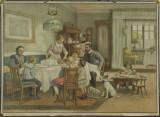 Rodina - školní obraz, nakladatel C. C. Meinhold & Söhne